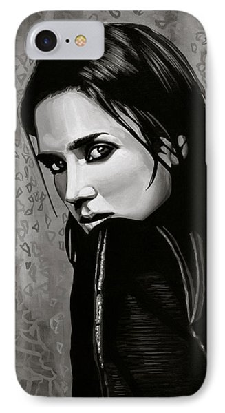 Jennifer Connelly Painting IPhone Case by Paul Meijering