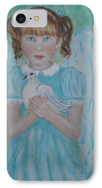 Jenny Little Angel Of Peace And Joy Phone Case by The Art With A Heart By Charlotte Phillips