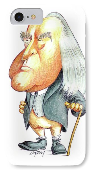 Jeremy Bentham IPhone Case by Gary Brown