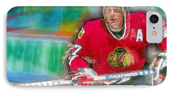 Jeremy Roenick Chicago Blackhawks  IPhone Case by Tony Rubino