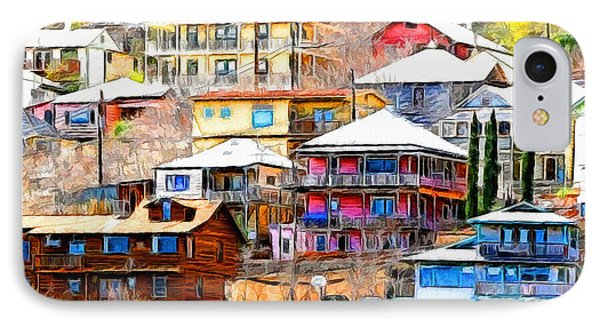 Jerome Arizona Hillside Houses IPhone Case by Clare VanderVeen