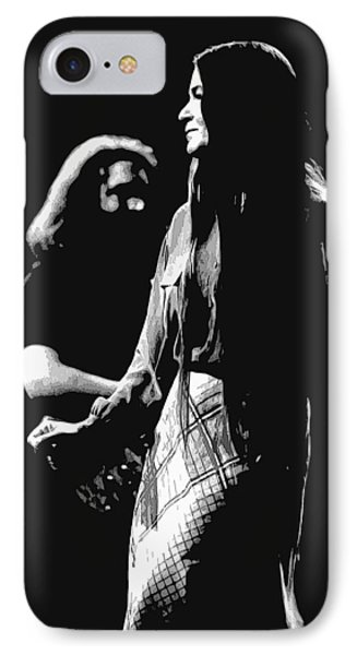 Jerry And Donna Godchaux 1978 A IPhone Case by Ben Upham