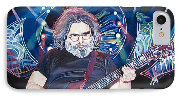 Jerry Garcia And Lights Phone Case by Joshua Morton