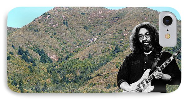 Jerry Garcia And Mount Tamalpais IPhone Case by Ben Upham III
