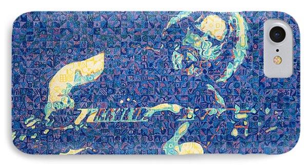 Jerry Garcia Chuck Close Style Phone Case by Joshua Morton