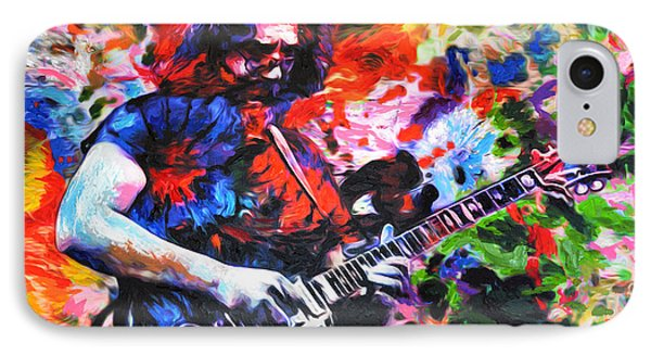 Jerry Garcia - Grateful Dead - Original Painting Print IPhone Case by Ryan Rock Artist