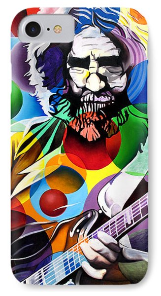Jerry Garcia In Bubbles Phone Case by Joshua Morton