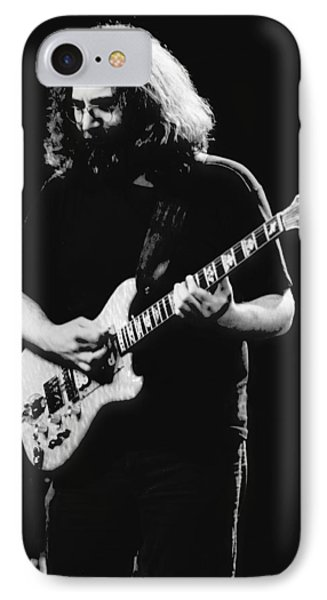 Jerry Garcia In Cheney 1978 IPhone Case by Ben Upham