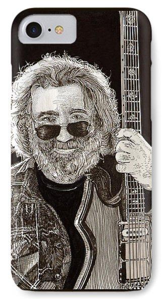 Jerry Garcia String Beard Gutaire IPhone Case by Jack Pumphrey