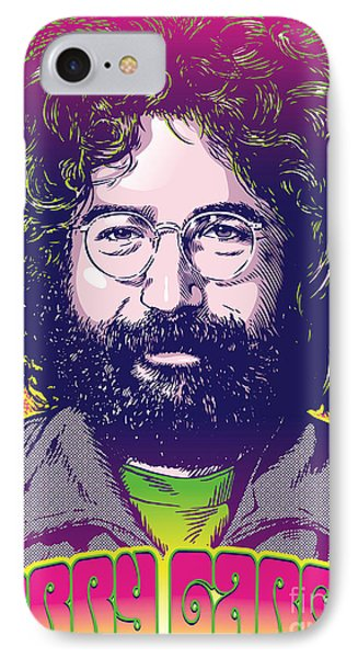 Jerry Garcia Pop Art IPhone Case by Jim Zahniser