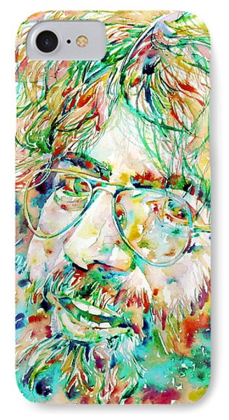 Jerry Garcia Watercolor Portrait.1 IPhone Case by Fabrizio Cassetta