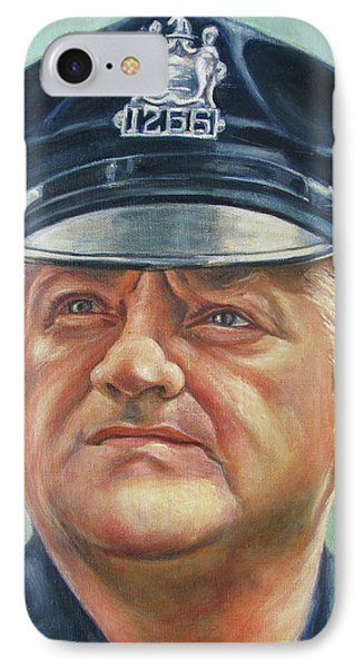 Jersey City Policeman Phone Case by Melinda Saminski