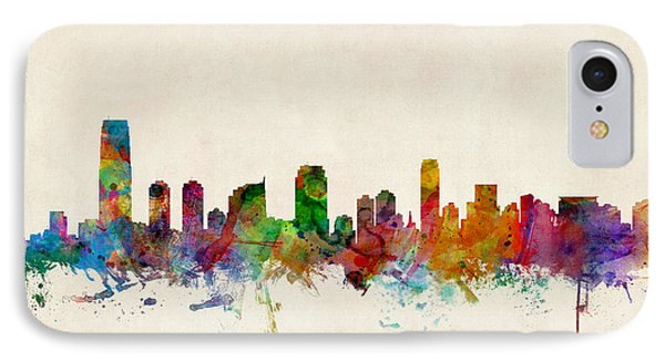 Jersey City Skyline IPhone Case by Michael Tompsett