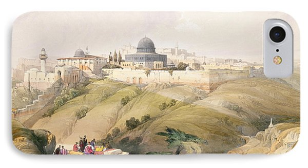 Jerusalem, April 9th 1839, Plate 16 IPhone Case by David Roberts