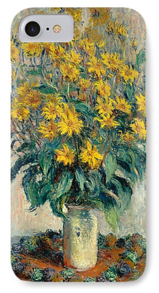 Jerusalem Artichoke Flowers IPhone Case by Claude Monet