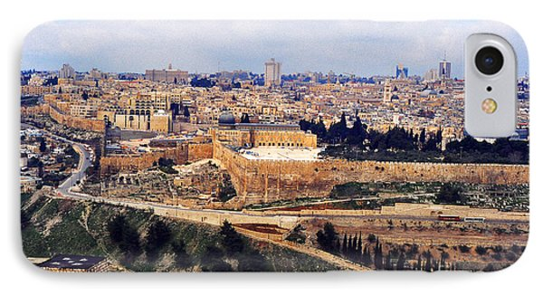 Jerusalem From Mount Olive IPhone Case by Thomas R Fletcher