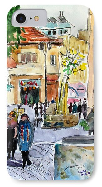 Jerusalem Street Scene IPhone Case by Linda Novick