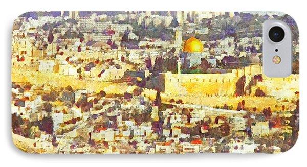 Jerusalem Sunrise Phone Case by Digital Photographic Arts