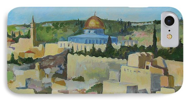 Jeruselem Rooftops IPhone Case by Linda Novick