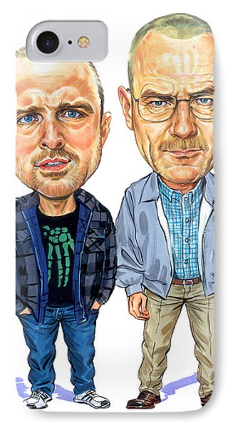 Jesse Pinkman And Walter White IPhone Case by Art