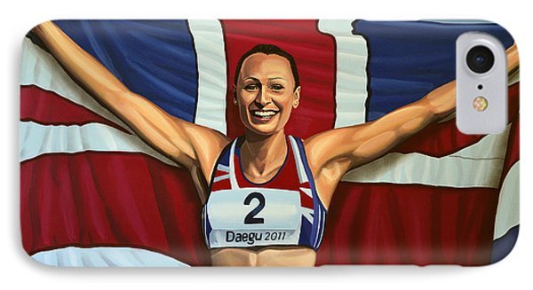 Jessica Ennis IPhone Case by Paul Meijering