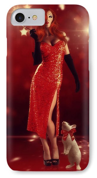Jessica Rabbit Phone Case by Cindy Grundsten