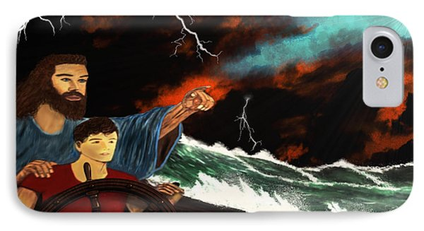 IPhone Case featuring the painting Jesus And The Sailor by Michael Rucker
