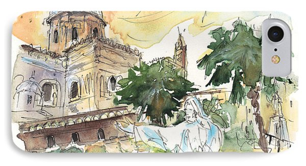 Jesus By Palermo Cathedral IPhone Case by Miki De Goodaboom