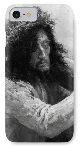 Jesus Carrying The Cross Circa 1898  IPhone Case by Aged Pixel