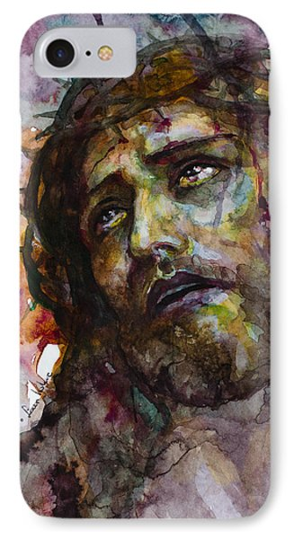 IPhone Case featuring the painting Jesus Christ by Laur Iduc