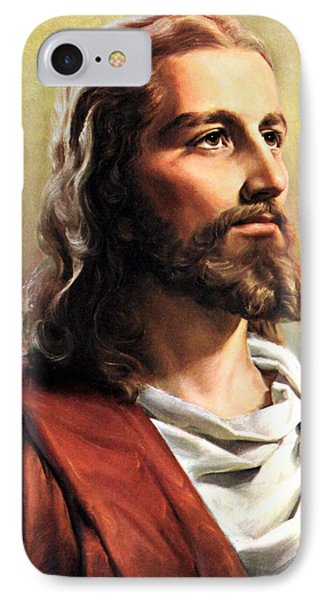Jesus Christ IPhone Case by Munir Alawi