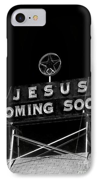 Jesus Coming Soon IPhone Case by Edward Fielding