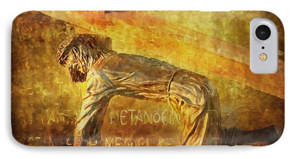 Jesus Falls Again Via Dolorosa 7 IPhone Case