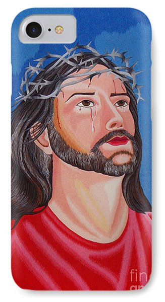 Jesus Hand Embroidery Phone Case by To-Tam Gerwe