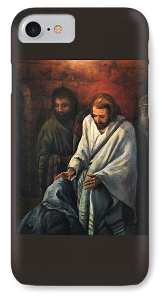 Jesus Healing Beggar IPhone Case by Donna Tucker
