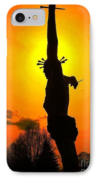 IPhone Case featuring the photograph Jesus In Sunset 1 Hope by Becky Lupe