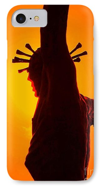 IPhone Case featuring the photograph Jesus In Sunset 2 Faith by Becky Lupe