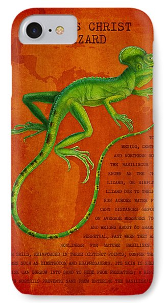 Jesus Lizard IPhone Case by Aged Pixel
