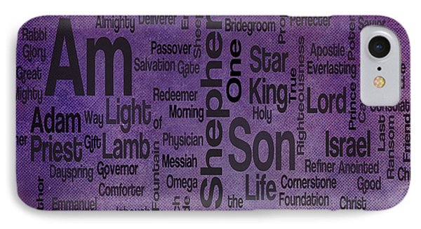 Jesus Name 2 Phone Case by Angelina Vick