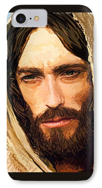 Jesus Of Nazareth Portrait IPhone Case by Dave Luebbert