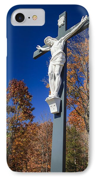 Jesus On The Cross IPhone Case by Adam Romanowicz