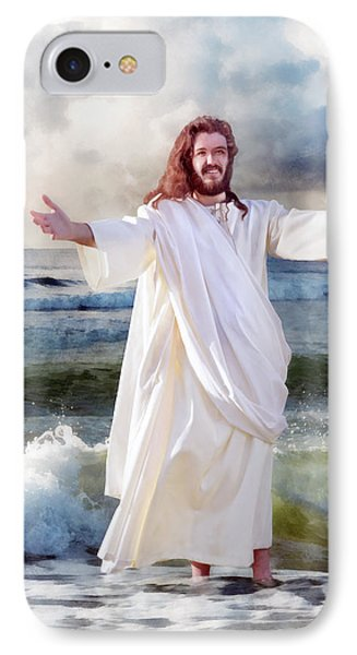 Jesus On The Sea IPhone Case by Francesa Miller