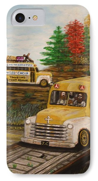 Jesus On Tour IPhone Case by Larry Lamb