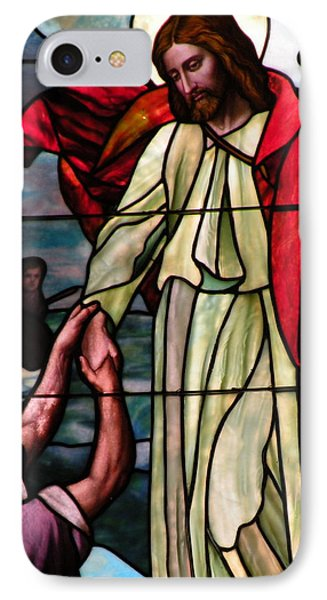 Jesus Rescues Peter From The Sea Phone Case by Kim Bemis