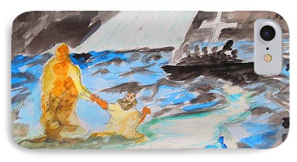 Jesus Saving Peter - Painting IPhone Case by Thomas Bertram POOLE
