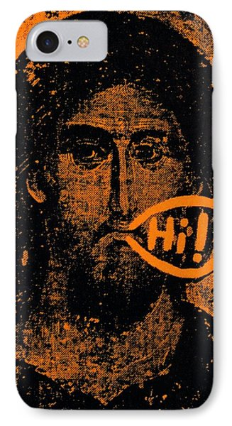IPhone Case featuring the painting Jesus Says Hi by Patrick Morgan