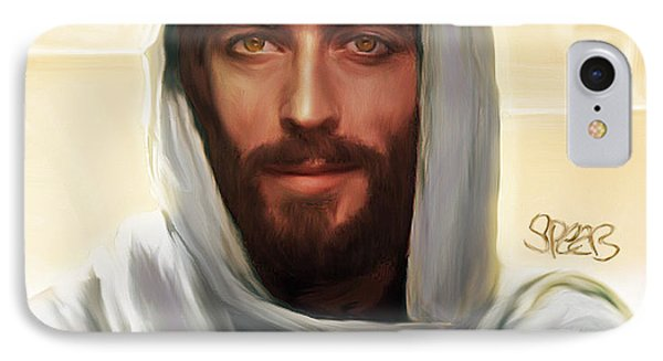 Jesus Smiling IPhone Case by Mark Spears