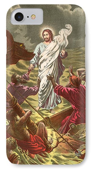 Jesus Walking On The Water IPhone Case by Anonymous