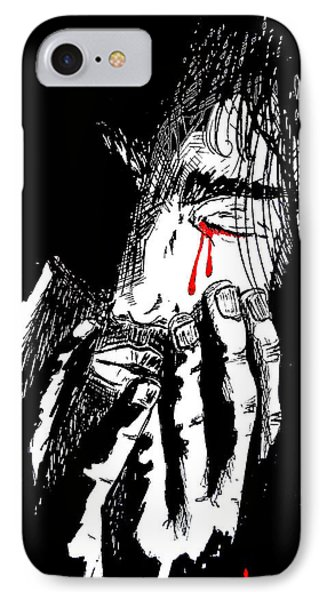 Jesus Wept Red Tears Phone Case by Justin Moore