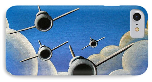 Airplane iPhone 7 Case - Jet Quartet by Cindy Thornton